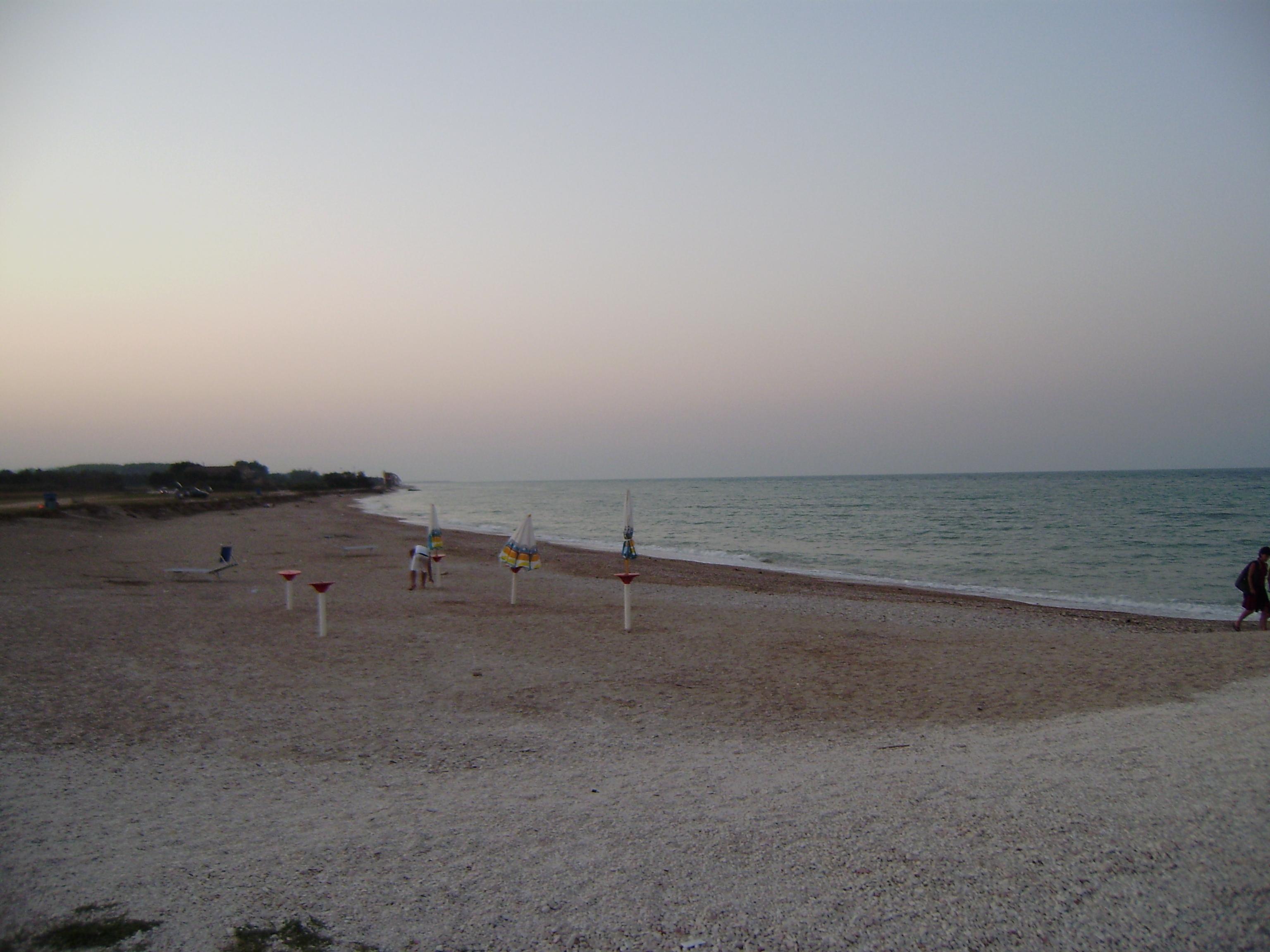 Playa de Porto Sant'Elpidio al atardecer