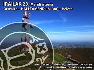 Ortzaize – HALTZAMENDI (813m) – Heleta