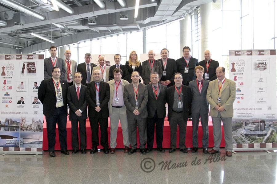 Equipo Arbitral de la Copa de Europa de Clubes de Ajedrez Bilbao 2014 - Foto Manu de Alba